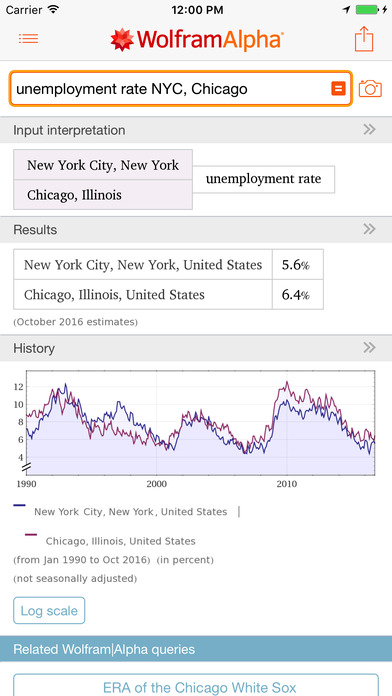 WolframAlpha iPhone Screenshot 2