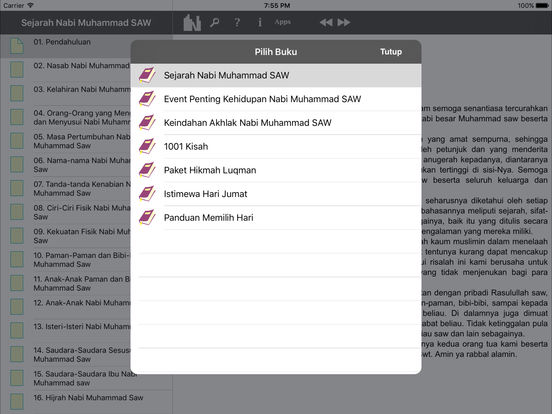 Muslim Book Pack for iPad - French Indonesia iPad Screenshot 3