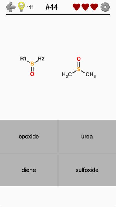 Functional Groups in Organic Chemistry - Quiz Screenshots