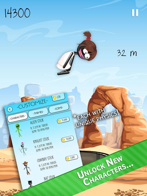 Stickman Trampoline PRO - Extreme Flip Action! Screenshots