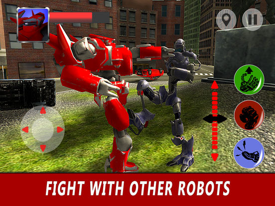 Flying Robot Simulator 3D Full screenshot 7