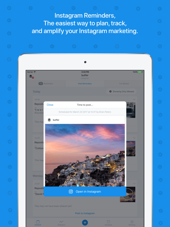 Buffer: Scheduling for Twitter, Instagram & More Screenshot