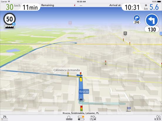 AutoMapa Polska iOS iPad Screenshot 1
