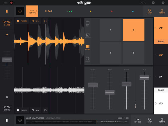 edjing Pro DJ Music Mixer: turntable to remix MP3 Screenshots