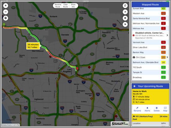 Sigalert.com - Live traffic reports iPad Screenshot 5