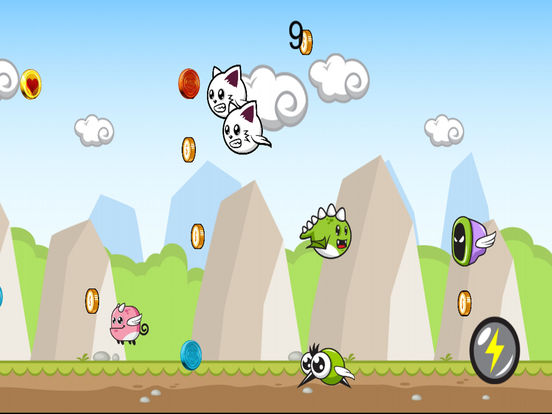 Cute Flying Dino Jurrasic Dash screenshot 4