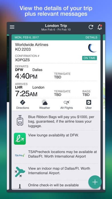 TripCase iPhone Screenshot 1