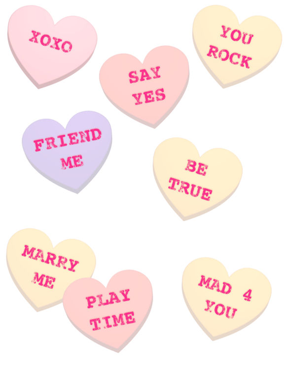 Screenshot #3 for Conversation Hearts XOXO