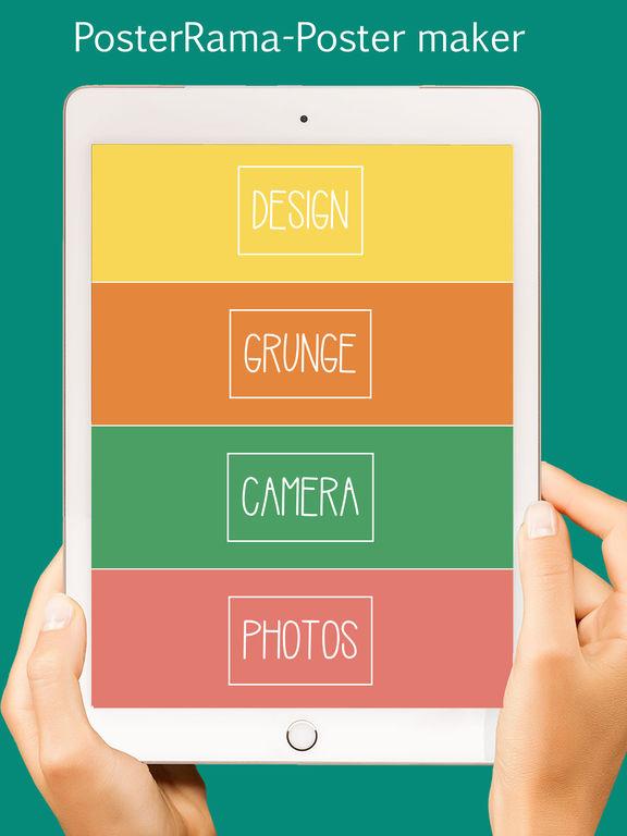 App shopper poster rama graphic design stylish flyer for Blueprint maker app
