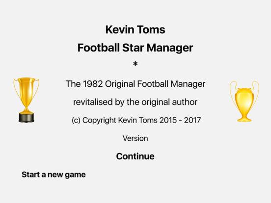 Kevin Toms Football Star Manager iPad Screenshot 1