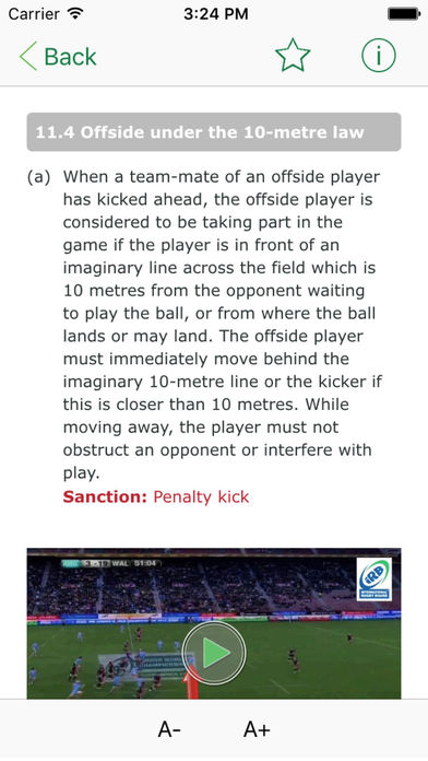 IRB Laws of Rugby iPhone Screenshot 3