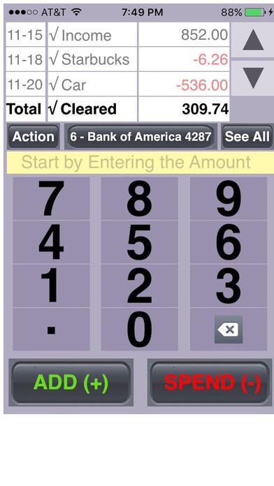 EZ Balances iPhone Screenshot 1