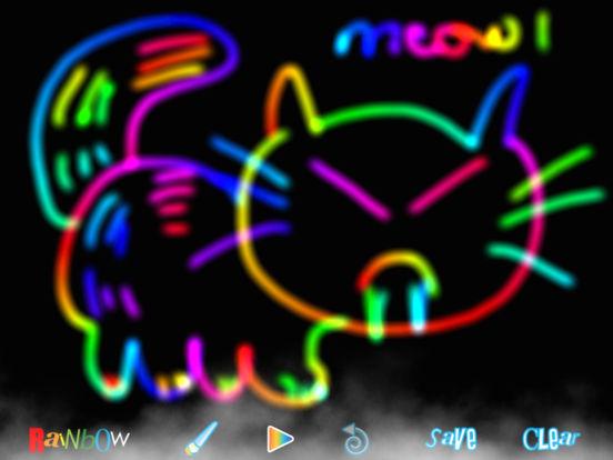 RainbowDoodle - Animated rainbow glow effect iPad Screenshot 1