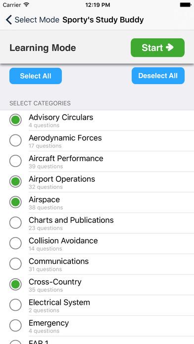 Study Buddy Test Prep (FAA Private Pilot) iPhone Screenshot 2