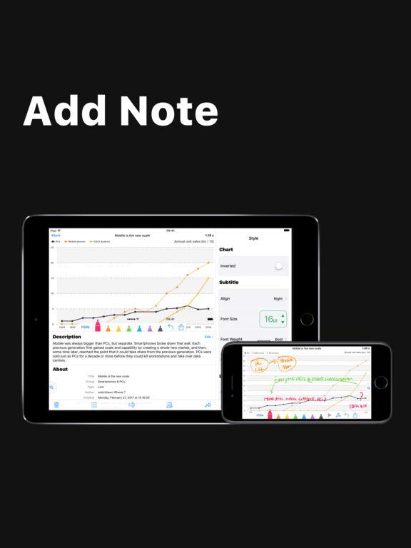 Visual Chart - Pie Bar Line Diagram & Graph Maker Screenshots