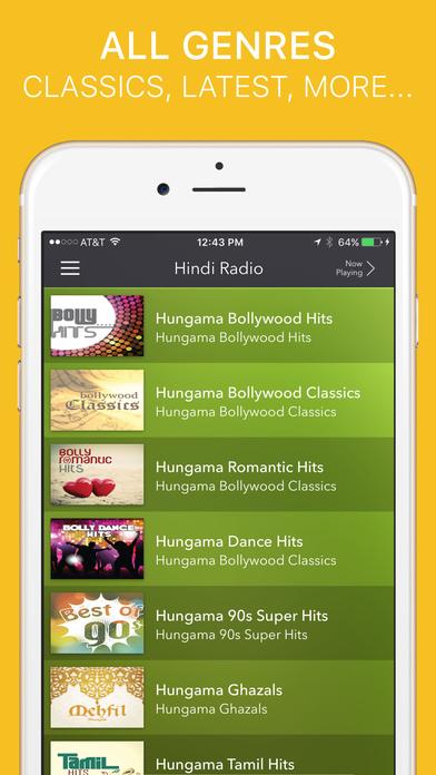 Hindi Radio iPhone Screenshot 4