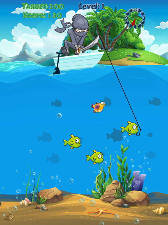 Ninja fishing catch fish adventure fishing game on the for Best fishing game app