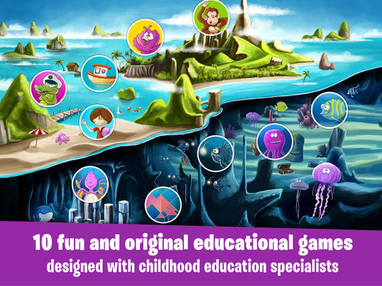 James' amazing adventures: learning games for kids iPad Screenshot 1