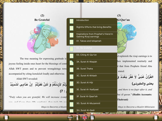 Ways to Become a Muslim Millionaire for iPad iPad Screenshot 2