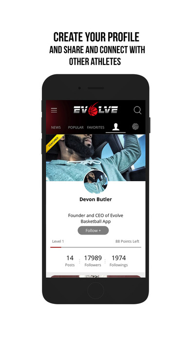 Evolve Basketball app image