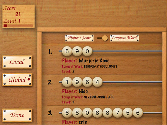 Word Abacus FREE iPad Screenshot 2