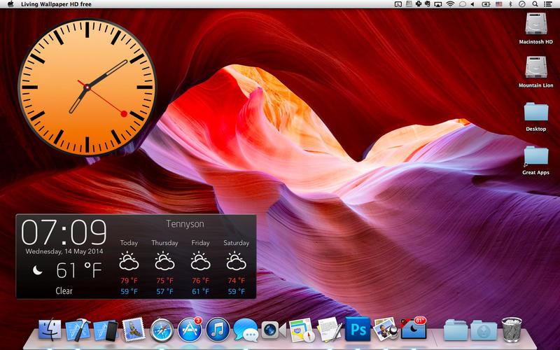 Screenshot #5 for Live Wallpaper HD+: desktop weather & screensaver