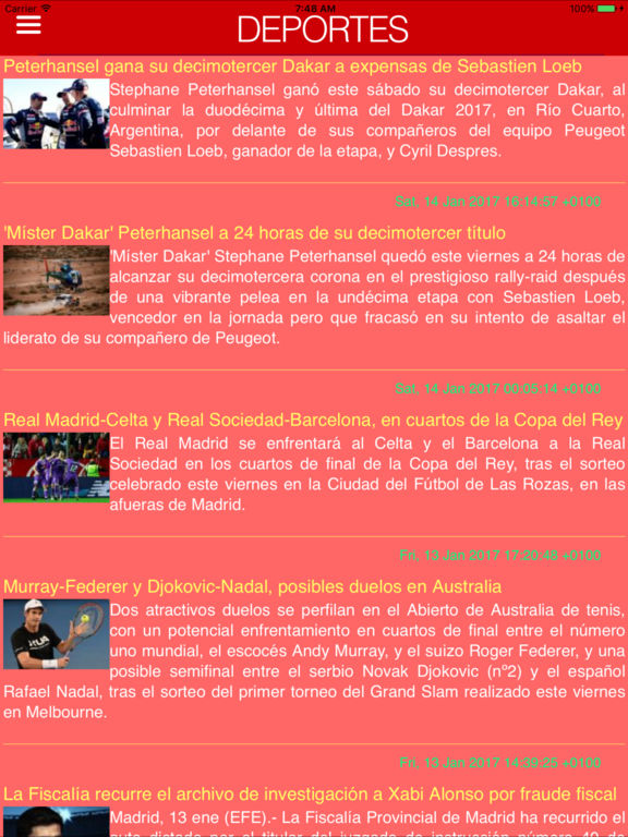 Spain's news & radios Screenshots