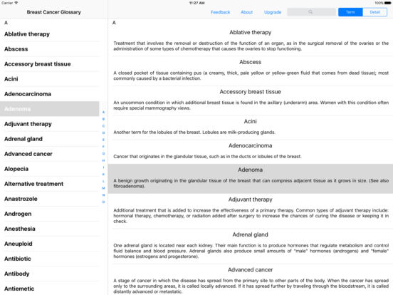 Breast Cancer Reference iPad Screenshot 1