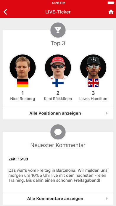 Formel1.de iPhone Screenshot 3