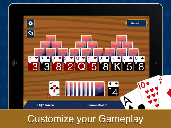Three Peak Solitaire iPad Screenshot 4
