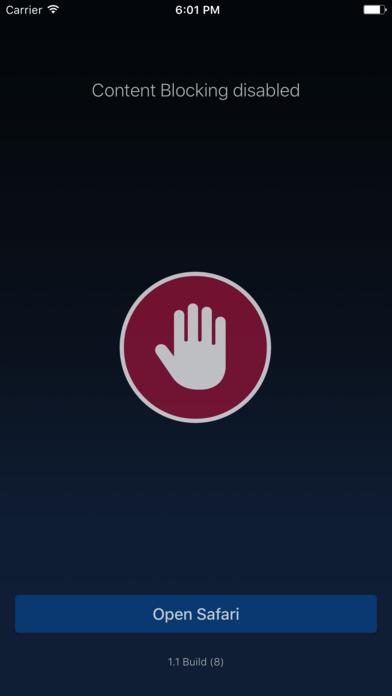 Browser Content Blocking Screenshots