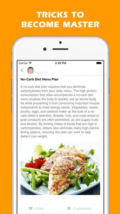 App shopper no carb diet a low carb meal plan for for Plan book app