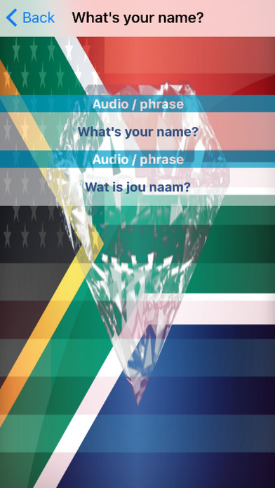 Afrikaans Phrases Diamond 4K Edition screenshot 3