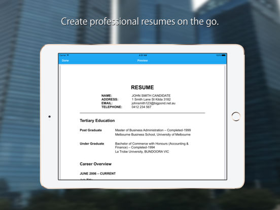 resume expert professional cv builder on the app store