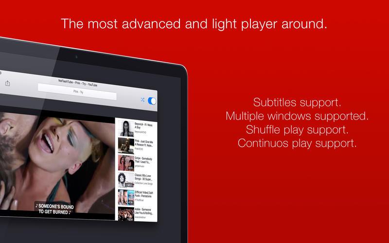 NoFlashTube - A player for YouTube Screenshots