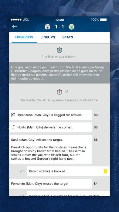 The official UEFA Champions League app