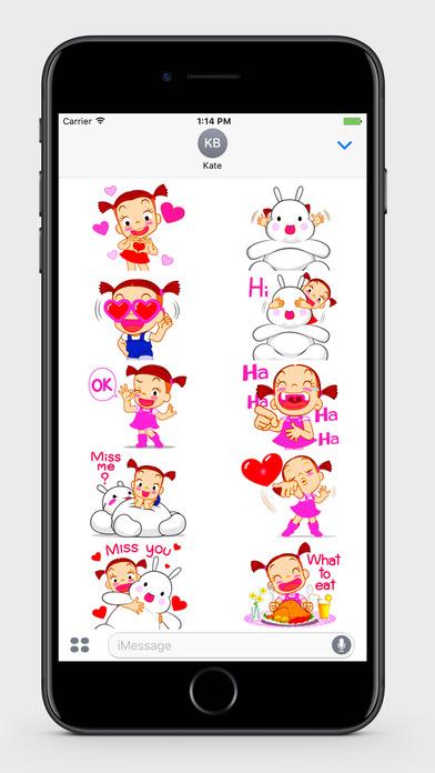 Kids: Little Girl 2 Stickers screenshot 1