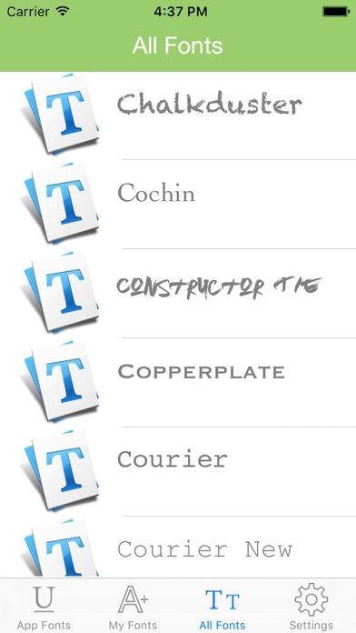 ALLFONTS - Install Any & All New Custom Fonts Screenshots