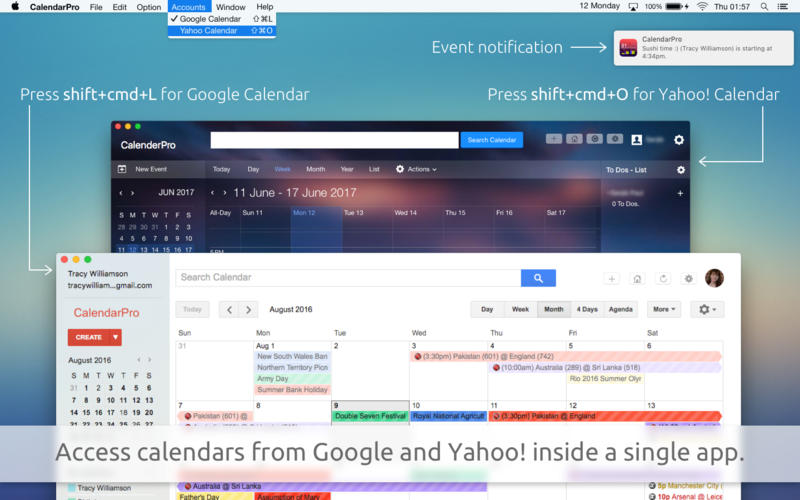CalendarPro for Google for Mac 3.0.5 破解版 - 谷歌日历工具