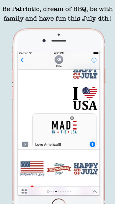 4th Of July Wishes Stickers For iMessage screenshot 2