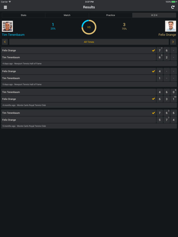 Smashbook Tennis Tracker App. Track your scores, stats, friends and foes like a pro. screenshot