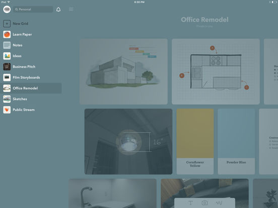 Screenshots of Paper by FiftyThree - Sketch, Diagram, Take Notes for iPad