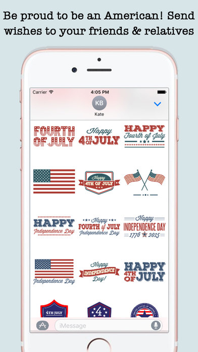 4th Of July Wishes Stickers For iMessage screenshot 3