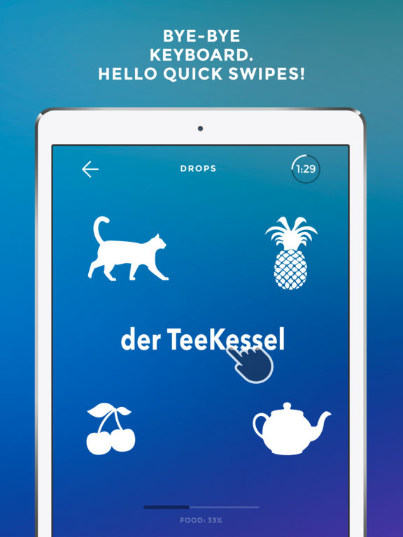 Screenshot #2 for Learn German language & words with Drops