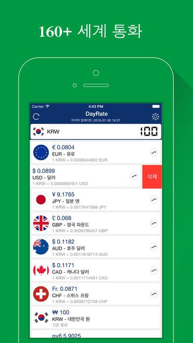 DayRate Pro - 환율 계산기 앱스토어 스크린샷