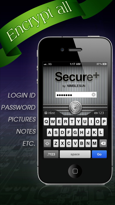 Secure+ password manager Screenshots
