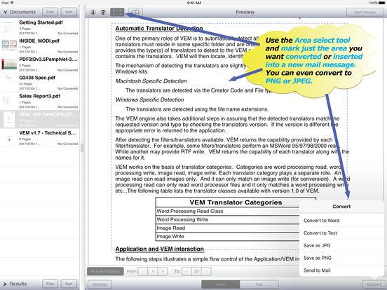 how to convert my pdf to word on apple