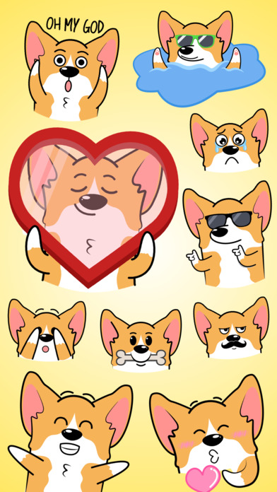 CorgiMOJI - Welsh Corgi Emoji & Stickers Screenshot