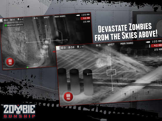 Zombie Gunship: Gun Down Zombies Screenshots