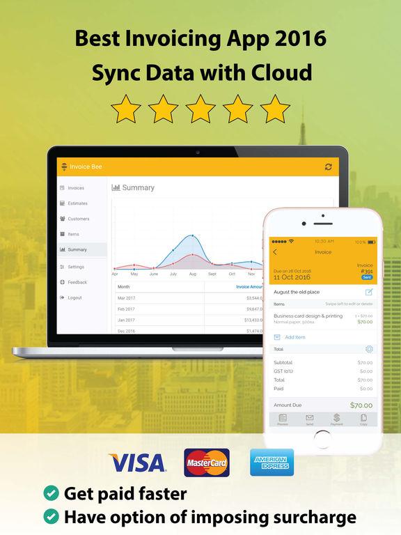 invoice bee - free invoice & estimate on the app store, Invoice templates